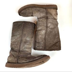 UGG Australia Boots W6 Classic Tall Leather Sheep